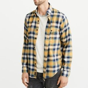 Abercrombie Stretch Plaid Shirt